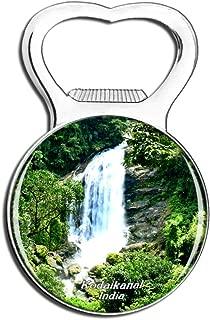 Weekino India Waterfall Kodaikanal Fridge Magnet Bottle Opener Beer City Travel Souvenir Collection Strong Refrigerator Sticker