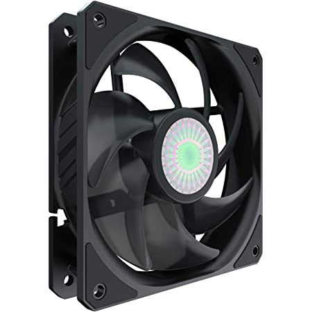 Cooler Master SickleFlow 120 V2 All-Black 120mm Square Frame Fan with Air Balance Curve Blade Design, Sealed Bearing, PWM Control for Computer Case & Liquid Radiator