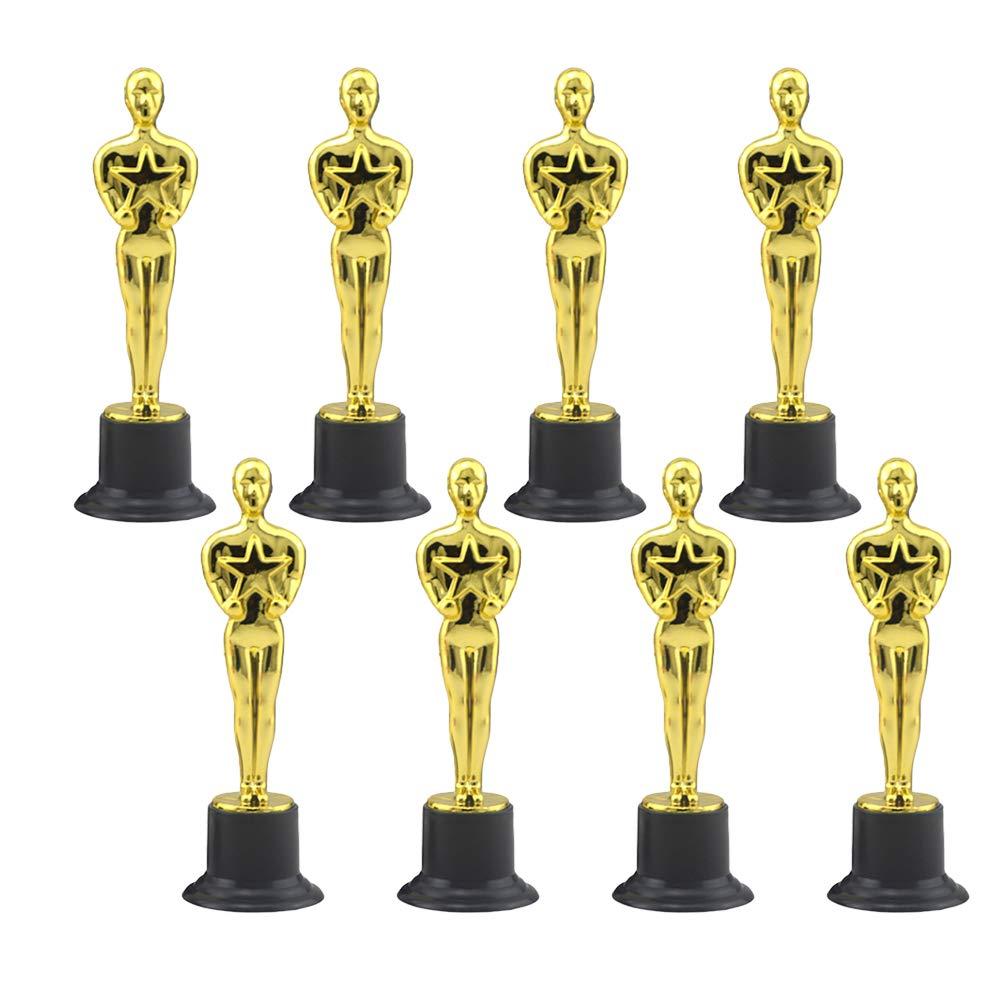 NUOBESTY Trofeo de Oro de Plástico Premios de Trofeos Celebraciones Premios Deportivos: Amazon.es: Hogar
