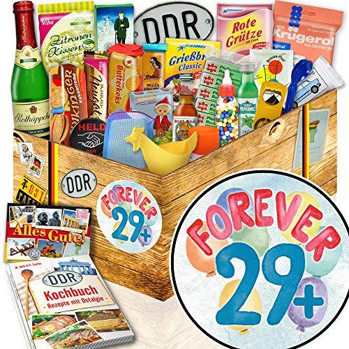 Forever 29 + / 24er DDR Box / Geburtstagswünsche zum 30 Frau