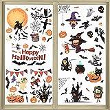 9 Hojas Pegatinas de Ventana de Halloween Calcomanía de Fan