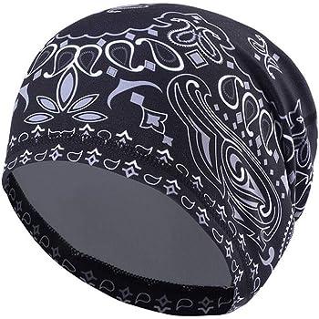 eletyuty Unisex Motorcycle Biker Skull Cap Beanie Hip Hop Dance Bandana Hat Helmet Liner Head Wrap Adjusted Pirate Scarf A#