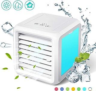 Baban Mini refrigerador de aire 3 en 1, aire acondicionado móvil, refrigerador de aire, ventilador de mesa silencioso, modo de conversión de luz LED