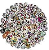 Lote de 50 pegatinas de calavera, diseño de calavera, estilo mexicano.