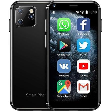 SOYES XS11 3G Mini Smartphone 2.5Inch WiFi GPS RAM 1GB ROM 8GB Quad Core Android 6.0 Cell Phones 3D Glass Slim Body HD Camera Dual Sim Google Play Cute Smartphone(Black)