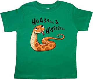 Hugs and Hisses- Cute Snake for Valentines Day Toddler T-Shirt