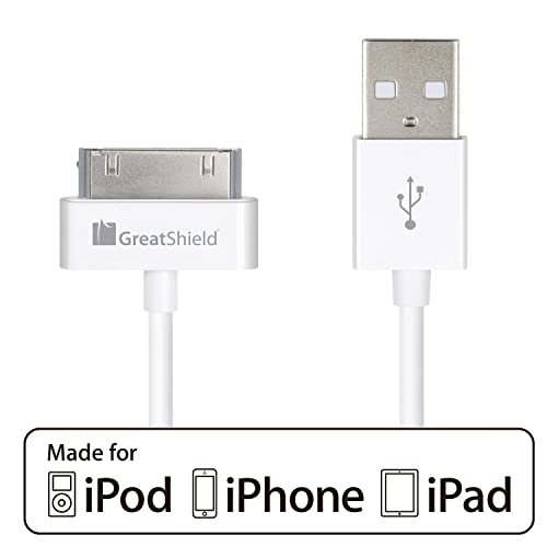 4FT 2IN1 USB 3.5MM AUX AUDIO SYNC CHARGER WHITE CABLE IPHONE 4S 4 IPOD NANO IPAD