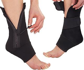 BXT, Fascitis Plantar calcetines de compresión con cremallera hasta Tobillo funda supports- proporciona tobillo pie talón arcos apoyo, aumenta la circulación, reducir la hinchazón, acelerar la recuperación