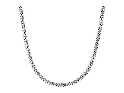 John Hardy Dot Slim Chain Necklace with Pusher Clasp (Silver) Necklace