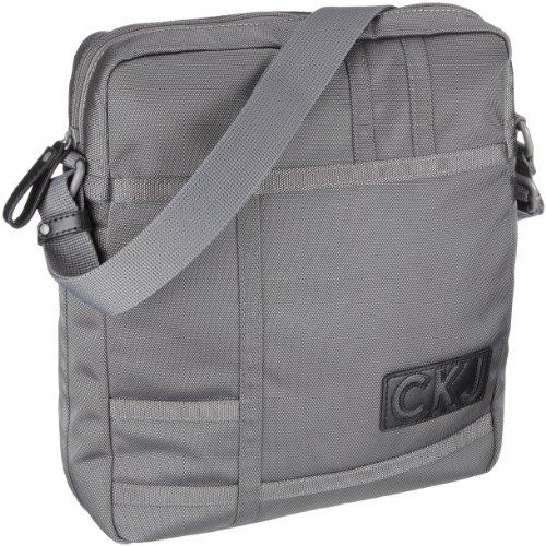 Calvin Klein Jeans Total Fabric CDV004 PBR Unisex - Erwachsene Schultertaschen, Grau (Boulder), 32x35x10 cm (B x H x T)
