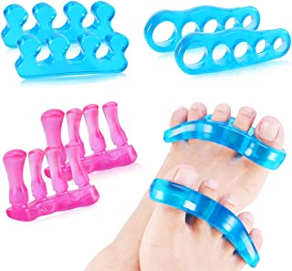 Gel Toe Separators Toe Straightener for Relaxing Toes Bunion Hammer Toe Bunion Corrector for Men Women Blue Pink
