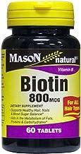 Mason natural biotin 800 mg tablets, Vitamin B - 60 ea by Mason Natural