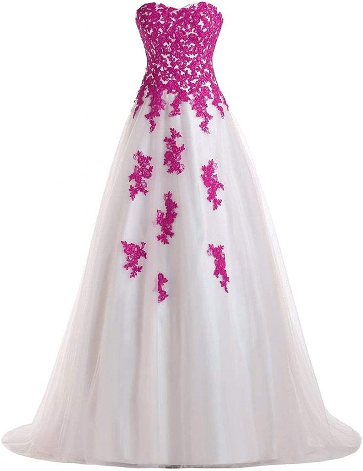 DINGZAN Puffy Lace and Tulle Bridal Dresses Quinceanera Ball Prom Gowns