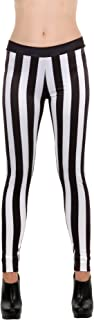 Black and White Striped Leggings by elope