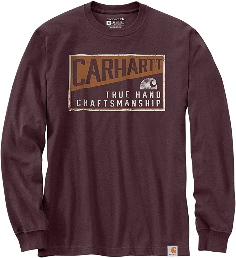Carhartt Men's 105059 Relaxed Fit Heavyweight Long-Sleeve Craftsmanship Graphic