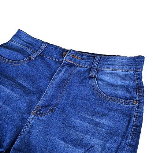 VICVIK Women Knee Skinny Denim Distressed Fashion Ripped Boyfriend Jeans (XL)