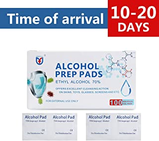 Coniler Alcohol Formula Wipes Pads(2Packs 100Count),70% Alcohol Cotton Slices Sterile Gauze Pads Individually Wrapped Swap Pad Wet Wipe for Outdoor Skin Cleaning Care 6 * 6cm