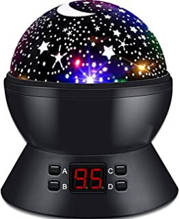 ANTEQI Star Sky Night Lamp,Baby Lights 360 Degree Romantic Room Rotating Cosmos Star Projector with LED Timer Auto-Shut Of...