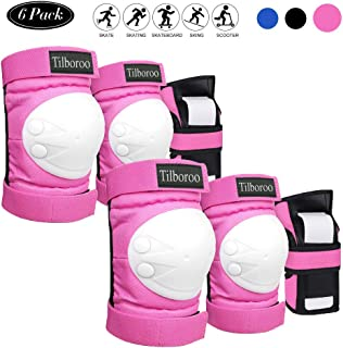 Tilboroo Knee Pads Elbow Pads Wrist Guards Set for Kids & Adult, 3 in 1 Protective Gear Set for Multi Sports Skateboarding...