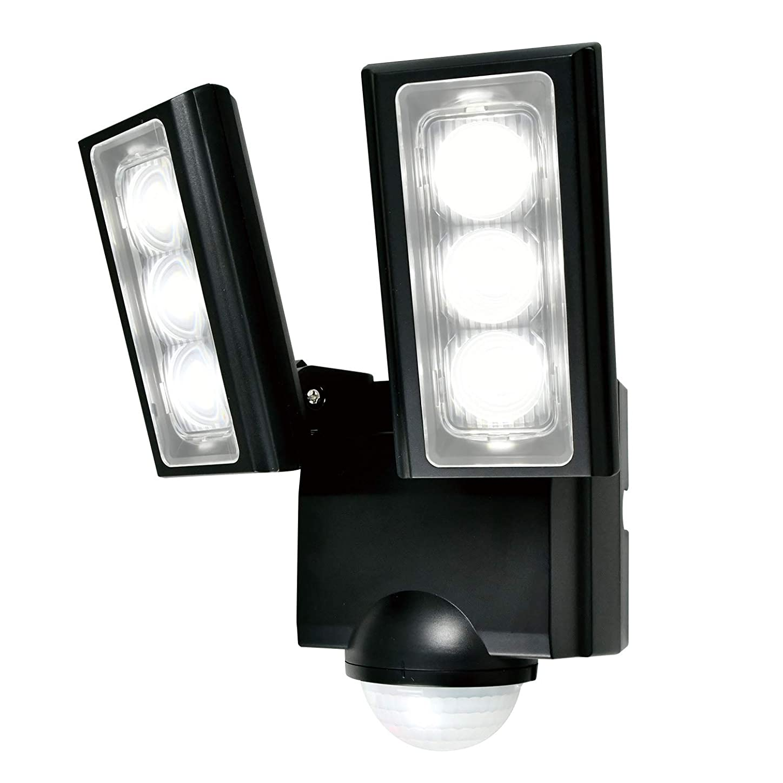誰がマッサージ大騒ぎELPA エルパ 乾電池式 センサーライト 2灯 省エネ 安心の防水仕様 広範囲照射可能 フラッシュ?赤点滅機能搭載 ESL-312DC