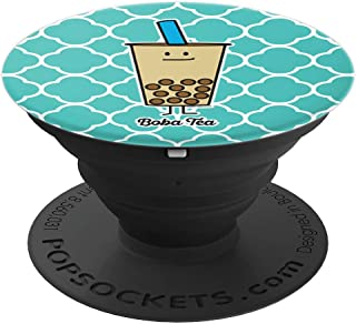 Boba Bubble Pearl Milk Tea Tapioca balls with straw - PopSockets Grip and Stand for Phones and Tablets