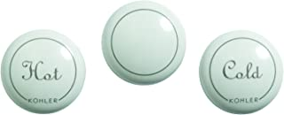 porcelain hot and cold faucet buttons
