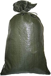 Green Sandbag Sandbags Will Hold 50 Pounds of Sand Polypropylene Olive Drab (100)