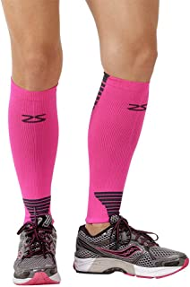 Zensah Ultra Compression Leg Sleeves – Calf Compression Sleeve for Shin Splints for Men, Women, Running, Basketball – Calf Guard Support Compression Socks