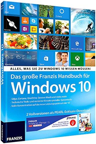 FRANZIS Großes Handbuch für Windows 10 + Paragon Suite & OneClick Wipe