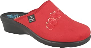 Fly Flot L7S42 WD Rosso Ciabatte Pantofole Invernali Donna Made in Italy ANATOMICO ANTISHOCK Antiscivolo Zeppa 3 CM