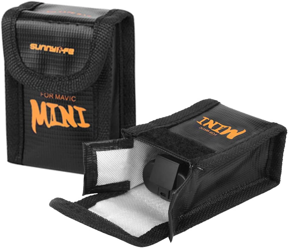 Details about  /O/'Woda Mavic Mini Battery Bag Fireproof Explosion-Proof Lipo Battery Safe Bag C