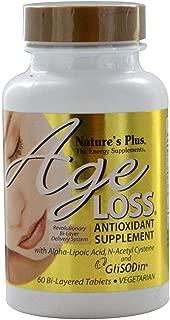 NaturesPlus Ageloss - 60 Vegetarian Tablets - Antioxidant Supplement with MSM, Alpha-Lipoic Acid (ALA), N-Acetyl Cysteine, Zinc & Copper, Anti-Aging - 30 Servings