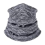 Winter Thermal Neck Warmer/Neck Gaiter Face Scarf/Face Cover Winter Ski Mask - Cold Weather Balaclava (Grey)
