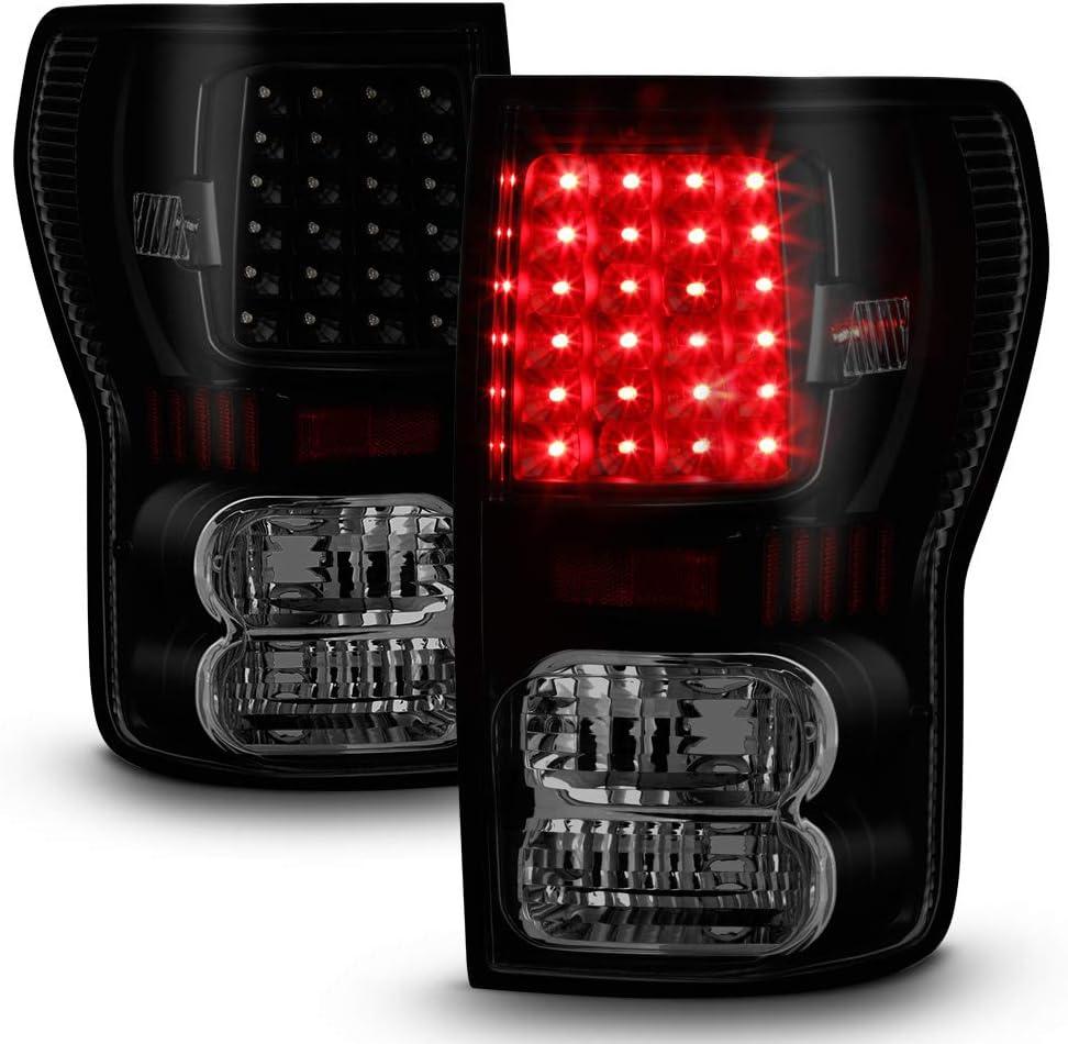 ACANII - For 買取 2007-2013 Toyota 記念日 Tundra Black Tail Smoke Lights LED