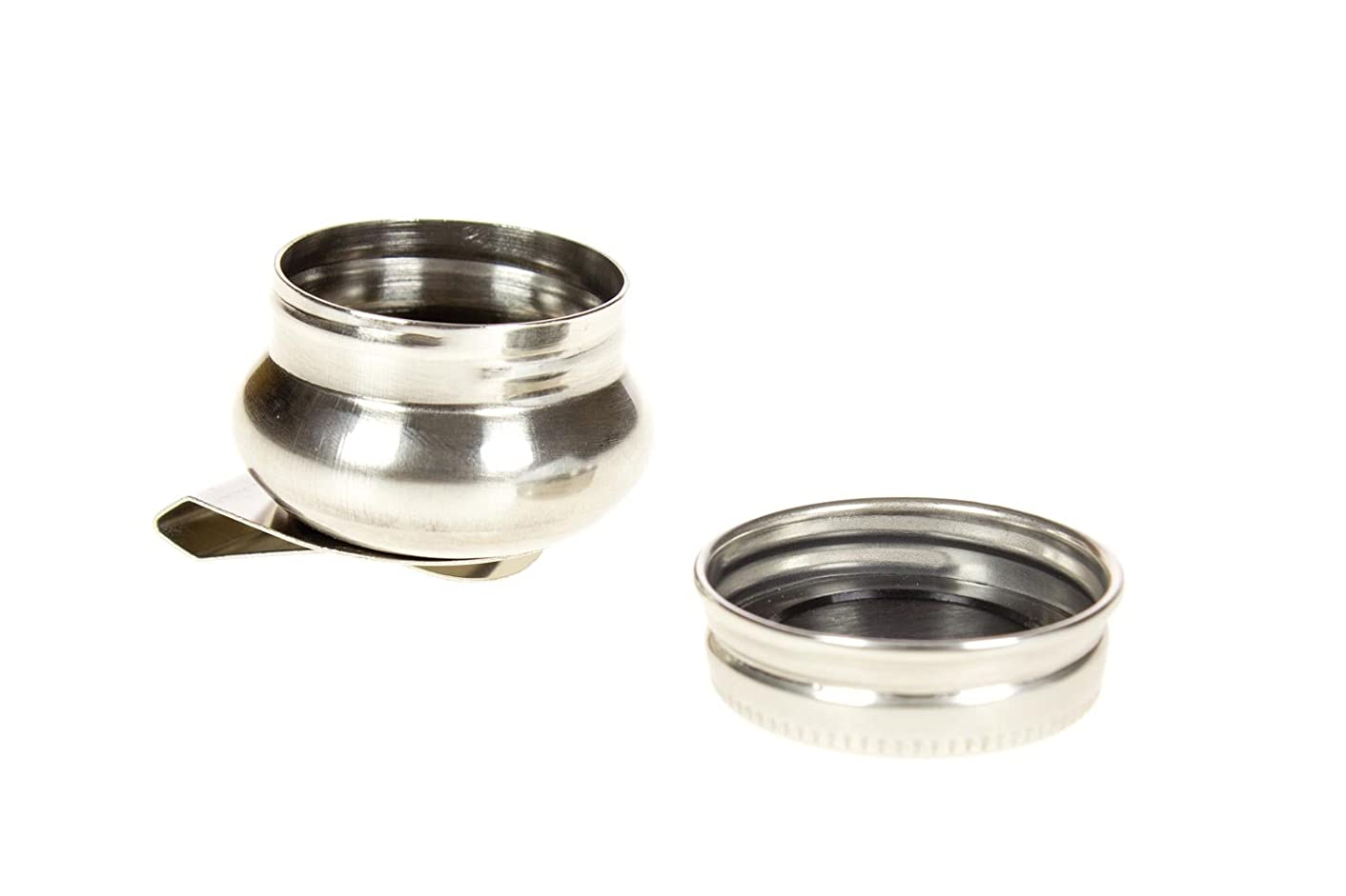 Stainless Steel Oil Palette Single Dipper with lid