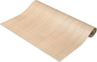 NBL 床保護マット 木目 ライト 約90×200cm 滑り止め付