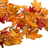 misson 6 Ft Fall Colors Autumn Maple Leaves Chain...