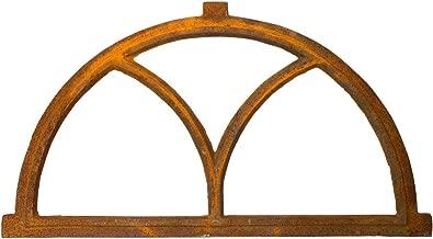 Nostalgie Stallfenster Bogen Fenster 44x86cm Eisen Gusseisen antik Stil Rost