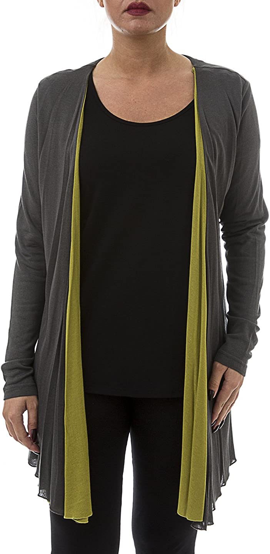 La Mouette Women's Plus Size Layered Knit Cardigan - Available Sizes: 14, 16, 18, 20