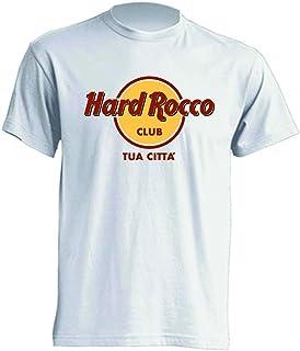 Mister Patch - Hard Rock T-Shirt Parodia - Divertente Hard Rocco - Personalizzata con la Tua Città - 100% Cotone - Idea Re...