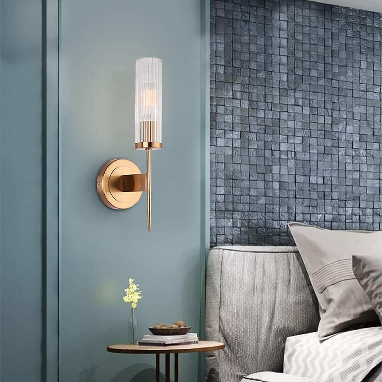 Glas wandleuchte moderne schlafzimmer nachttischlampe innenwandleuchte gehweg schmiedeeisen lampe krper dekorative wandleuchte