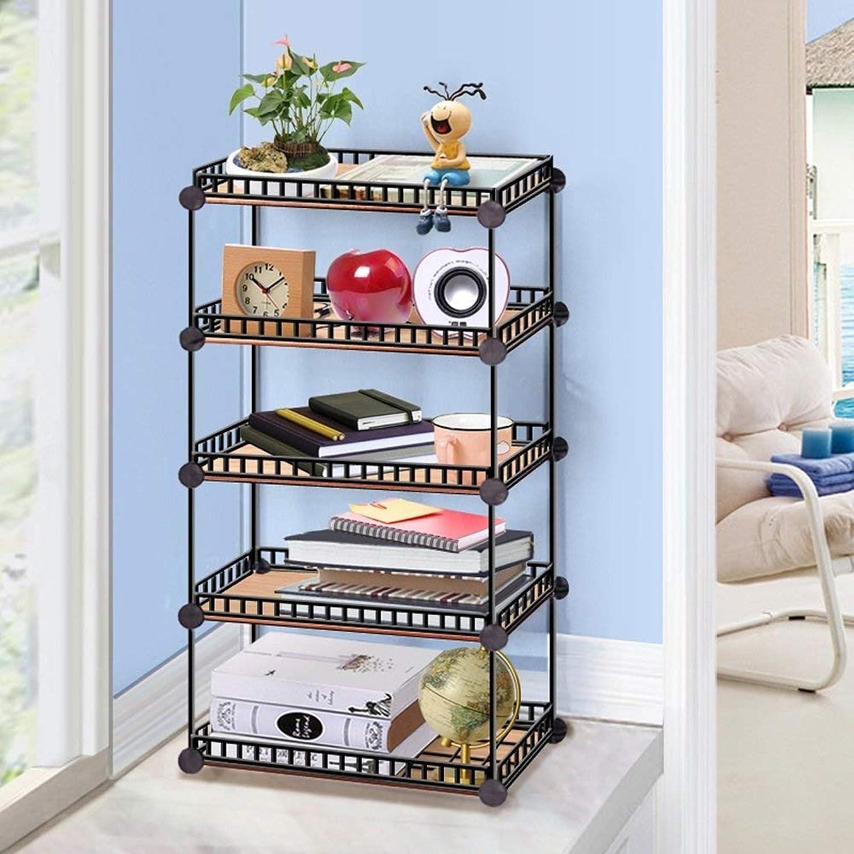 JSSCL Iron net Creative Study Finishing Storage Rack, Table Small Bookshelf Fleshy Shelf Rack (Size   L)