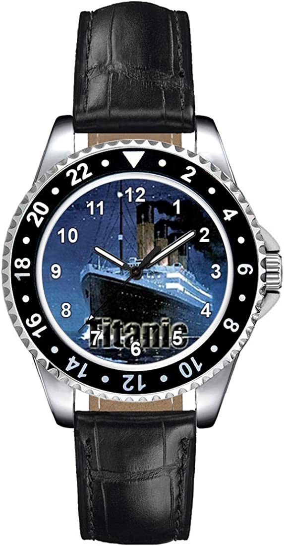 Timest - Titanic Women's Max 75% OFF Wrist Watch Bla Leather with Max 41% OFF in Strap