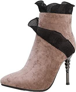 RizaBina Women Fashion Boots Pointed Toe Stiletto Heels Zip