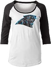 New Era Carolina Panthers Women's NFL Score 3/4 Sleeve Scoop Neck Shirt