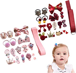 LHTHZHY Baby Girls Hair Clips Little Girls Hair Pins Gift Set Hair Accessories for Kids Toddlers (GIFT BOX -JK (36pcs))
