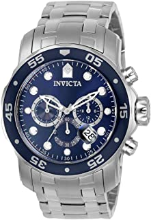 Invicta 0070 Watch Men's Pro Diver Collection, Chronograph, Silver