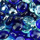 Beach Vibes - Blended Fire Glass Beads for Indoor and Outdoor Fire Pits or Fireplaces   10 Pounds   3/4 Inch