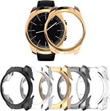 [5-Pack] Protector Case Compatible with Ticwatch Pro,Ultra Slim TPU Cover Scratch-Proof Protective Bumper Shell Smartwatch Accessories (Clear+Black+Gray+Silver+Rosegold, Ticwatch Pro)