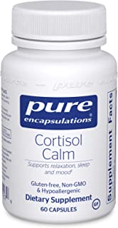 Pure Encapsulations - Cortisol Calm - Hypoallergenic Supplement to Maintain Healthy Cortisol Levels - 60 Capsules